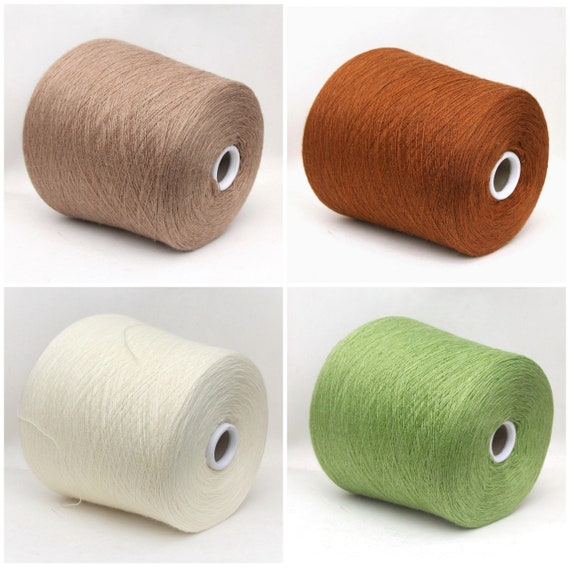 Milk fiber/wool merino yarn on cone, lace weight yarn for knitting, weaving and crochet, per 100g