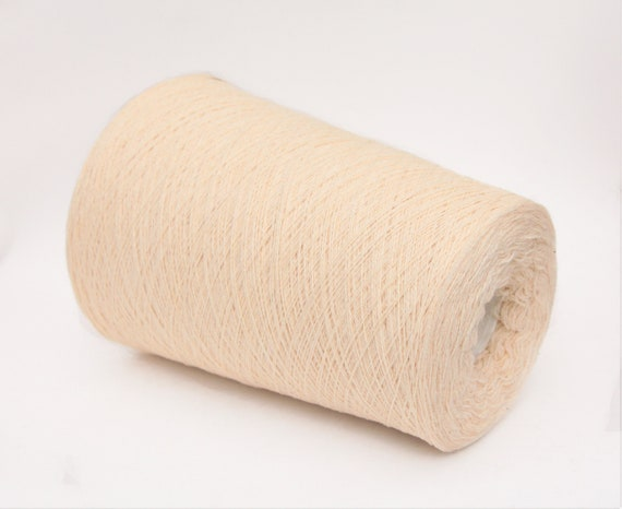 Cashmere/wool merino yarn on cone, lace weight yarn for knitting, weaving and crochet, per 100g