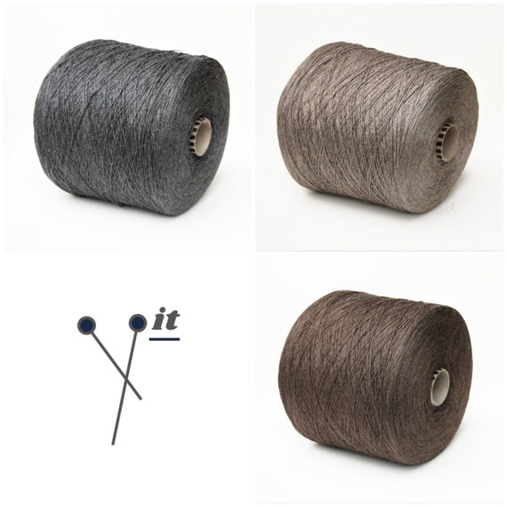 100% tussah silk yarn on cone, lace weight yarn for knitting, weaving and crochet, per 100g
