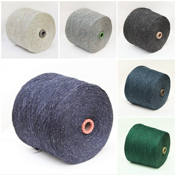 100% tsumugi silk yarn on cone, japanese silk yarn for knitting, weaving and crochet, per 100g