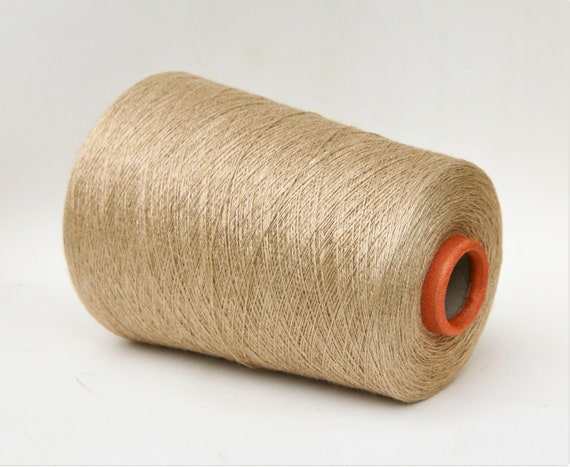 Baby camel/silk yarn on cone, 2/16Nm lace weight yarn for knitting, weaving and crochet, per 100g