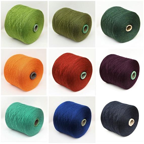 100% wool merino yarn on cone, fingering/sock weight yarn for knitting, weaving and crochet, per 100g