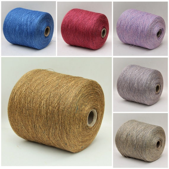 100% linen yarn on cone, tweed yarn for weaving, knitting and crochet, per 100g