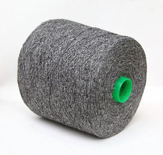 100% noil silk lace weight yarn on cone, knitting yarn, weaving yarn, crochet thread