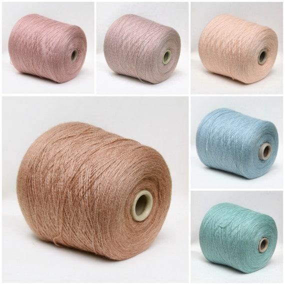 Alpaca silk yarn on cone, fingering/sock weight yarn for knitting, weaving and crochet, per 100g