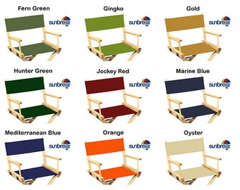 Delicieux Sunbrella(R) Directors Chair Replacement Covers (Round Stick , Marine Grade  Fabric)