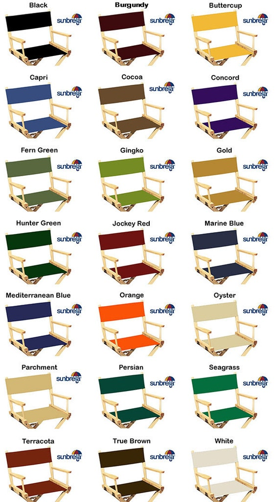 Ordinaire SunbrellaR Directors Chair Replacement Flat Stick Covers