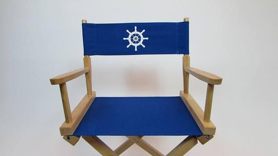 Excellent Marine Themed Replacement Canvas Directors Chair Cover Round Stick Canvas Machost Co Dining Chair Design Ideas Machostcouk