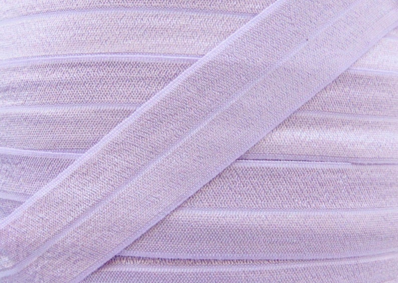 5 YARDS One Inch Lilac Mist Fold Over Elastic  Lilac Mist image 0