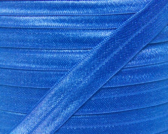 Royal Blue Fold Over Elastic - Elastic For Baby Headbands and Hair Ties - 5 Yards of 5/8 inch FOE