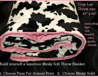tiger print blanket etsy