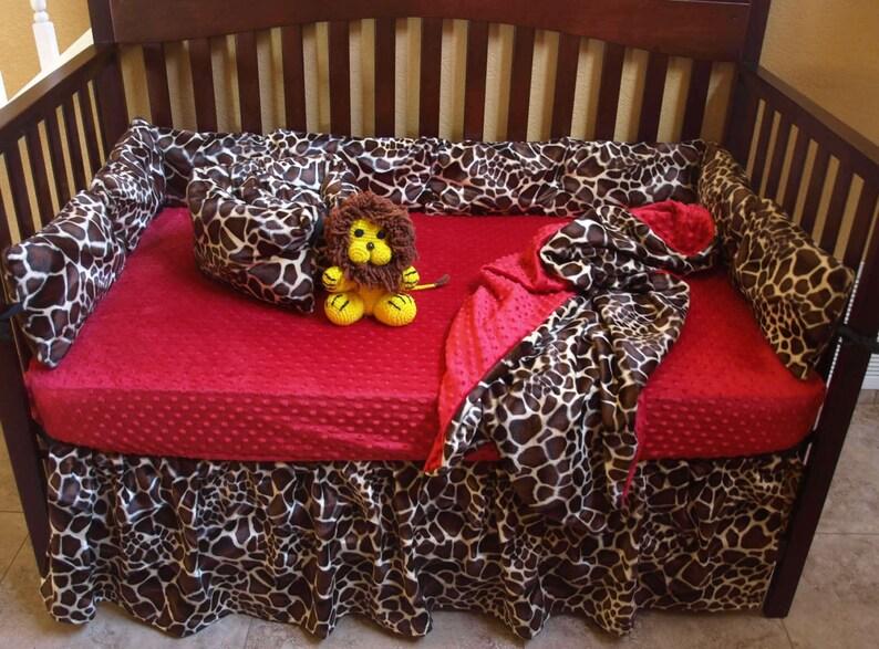 Giraffe Print Baby Bedding Set Safari Crib Bedding Etsy