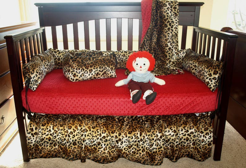 Leopard Print Crib Bedding Set Etsy
