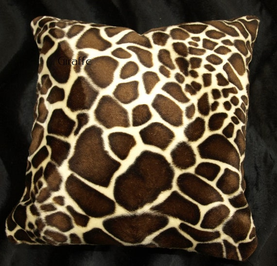 Pony Western Print Pillow Cover Faux Fur Pillow 14x14 set of 2