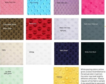 "Minky Fabric (1 yard-60"" wide) minky dot fabric by the yard OR Wholesale"