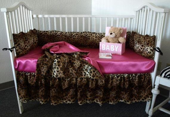 Leopard Baby Bedding Set, Cheetah Print Baby Bedding Set