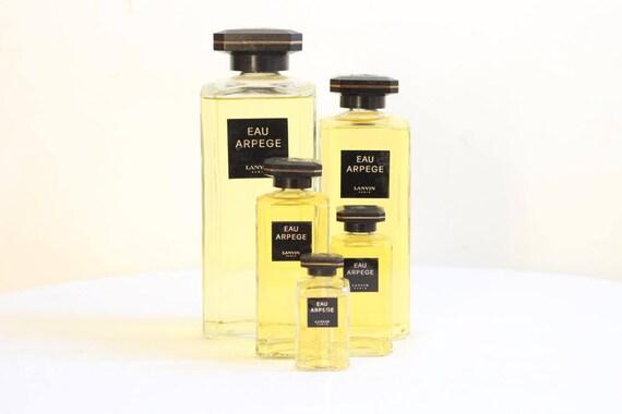 French Vintage Glass Factice Perfume BottlesShop Display Bottles Set of Five Giant To Miniature Lanvin Arpège Circa 1980's Époque Vintage