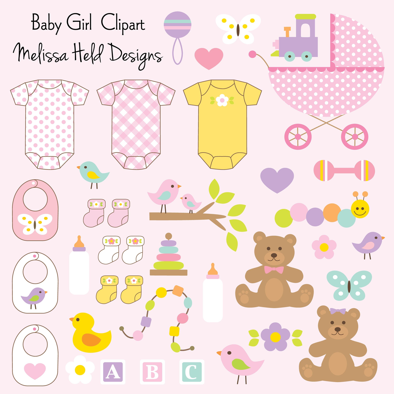 Baby Mädchen Clipart   Etsy