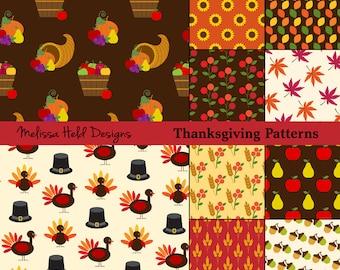 Thanksgiving Vector Patterns