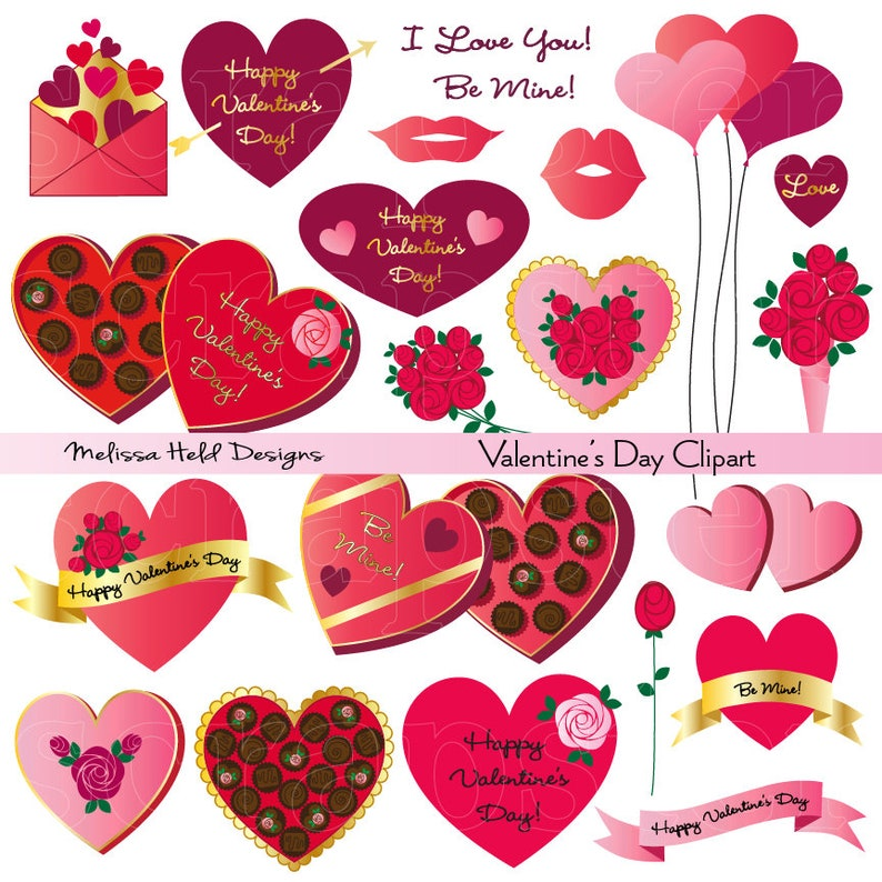 Valentine/'s Day Digital Clipart