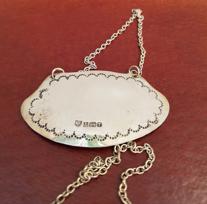 Silver Trinket Casket with two Silver Bottle Hang Tag Labels