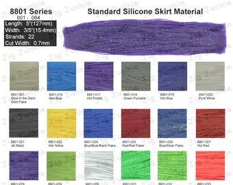 12 Silicone Skirt Tab **** BLUE GRAPE ****