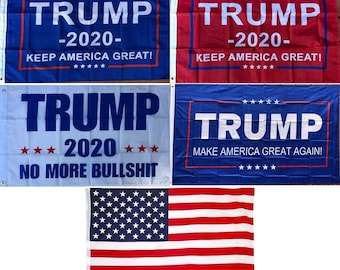 2' x 3' Trump Flag - Make / Keep America Great Again MAGA, 2020, No More BS, USA American - Boat Motorcycle Flags