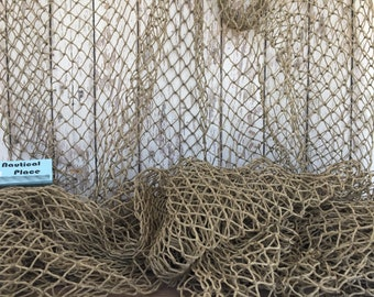 Authentic Used Fishing Net - Old Vintage Fish Netting - Commercial Recycled Reclaimed Fishnet - Assorted Sizes