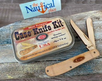 Case Mini Trapper Pocket Knife Wooden Model Kit - Handcrafted In USA - Knifemaking Kids Craft - Christmas Gift