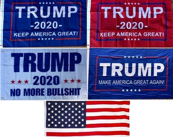 25-Pack Wholesale 3'x5' or 2'x3' Trump Flag - Make / Keep America Great - Elect Donald For USA President - US