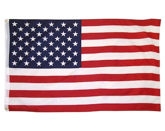 3' x 5' American Flag w/ Grommets - United States of America - USA US For Pole - 3x5