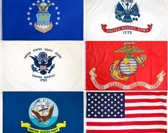 3'x5' - US Marine Flag, Army, Air Force, Navy, Coast Guard - USA American Flags - United States Military - 3 x 5