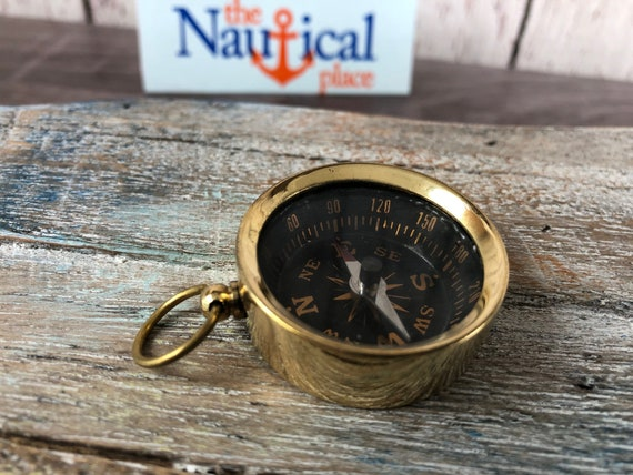 LOT OF 20 PCS NAUTICAL STYLE BRASS POCKET KEY CHAIN COMPASS CHRISTMAS GIFT