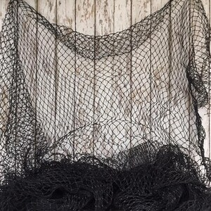 Knotless Braided Nylon Real Vintage Fishing Maritime Decoration Net 10/' x 10/'