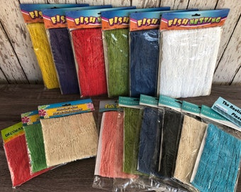 Decorative Fish Net -4'x12' / 6'x8' / 6'x15' - Blue, Black, White, Green, Red, Pink, Aqua, Purple, Yellow -Nautical Decor Luau Party Netting
