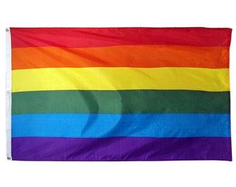 Rainbow Gay Pride Flag - 3 x 5 - Lesbian LGBT - Gaypride LGBTQ - Large 3 ft x 5 ft