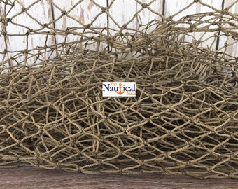 Old Used Fishing Net - 2 ft x 2 ft Knotted - Vintage Fish Netting - Nautical Maritime Beach Room Decor - Hermit Crab Climbing Hammock