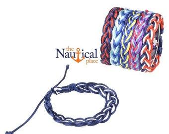 "7"" Hand Tied Sailor Knot Bracelet w/ Quick Slipknot - Waterproof Paracord - Braided Nautical Jewelry - Groomsmen Gift"