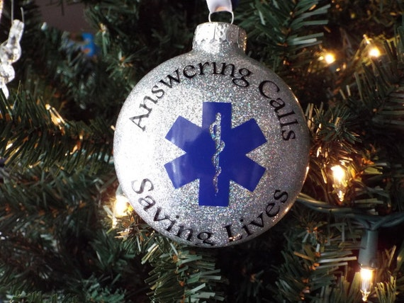 Personalized EMT Ornament - EMS Ornament - Paramedic Christmas Ornament -  Glittered Ornament - Personalized Christmas Ornament - Paramedics - Personalized EMT Ornament EMS Ornament Paramedic Christmas Etsy