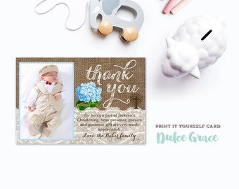 Items Similar To Twins Baptism Thank You Card Printable Christening