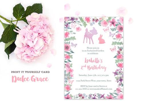 Lavender Pink Invites Pastel Birthday Invitations 2nd 3rd