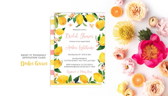 mediterranean invitations italy bridal shower invites lemons