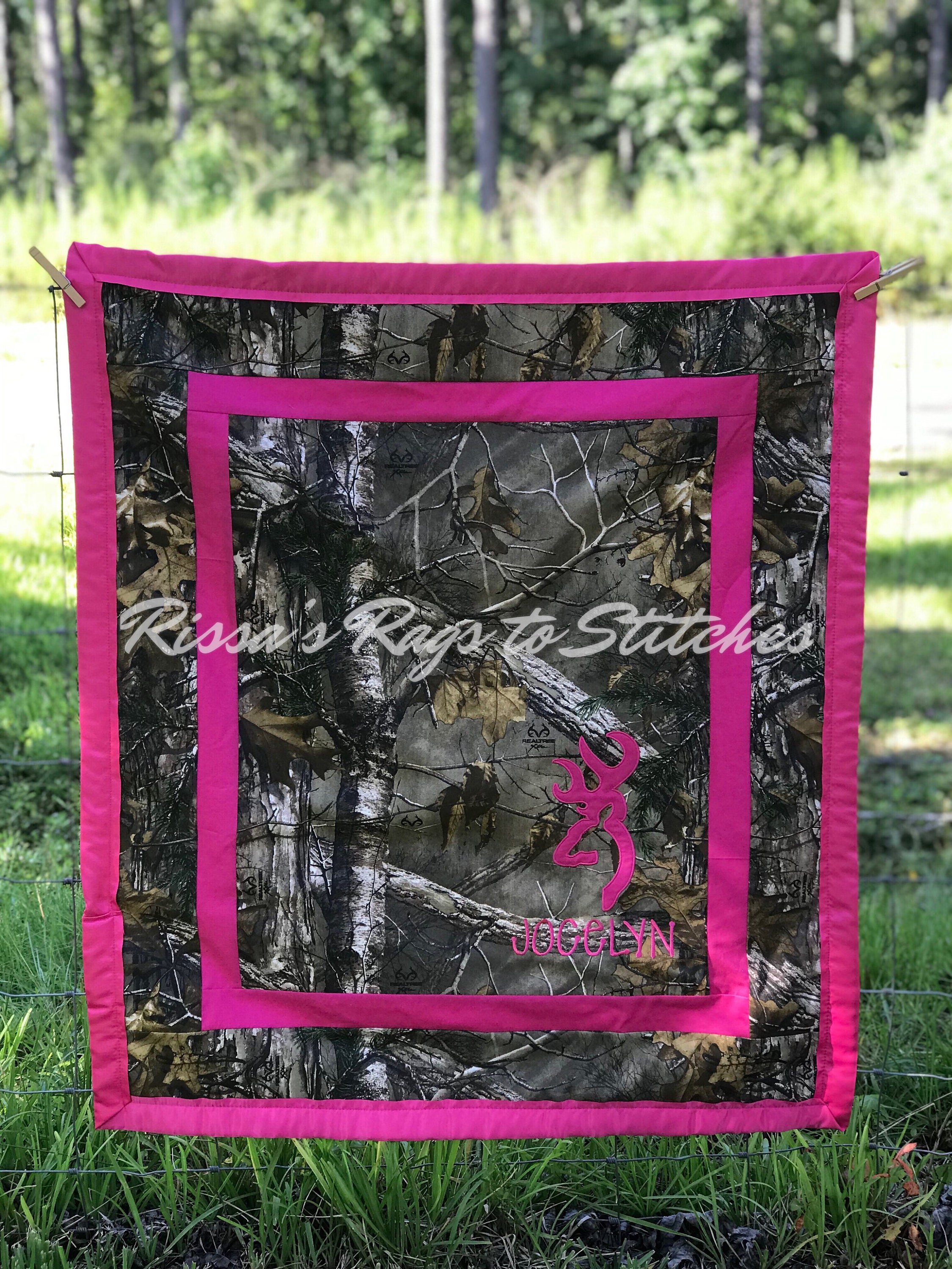 Realtree Camo Browning Crib Size Blanket Different Colors