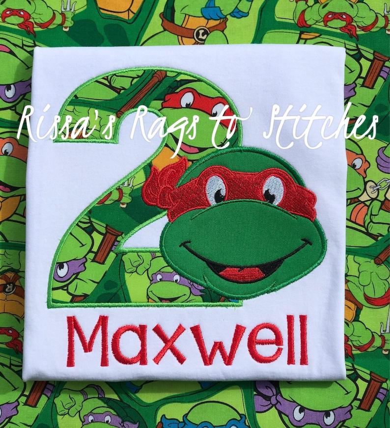 Ninja Turtle Birthday Shirt 1-9 image 0