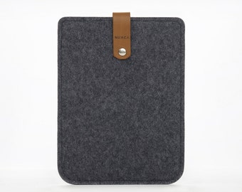 Kindle Paperwhite Case - Ereader Amazon Kindle Cover  - Felt and Leather Case for the Kindle Paperwhite - Kindle Amazon Cover - Grey Felt