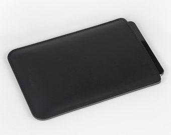 iPad Leather Case - iPad Air Cover - iPad Leather Sleeve - iPad Air 2 - Black Leather iPad