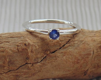 Stylish Handmade Jewelry Sapphire Prom Ring Blue Sapphire September Birthstone Ring DTSR1004 Dailyewar Ring Gift Ring