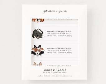 Set of 24 Address Labels | Dogoween Personalized Return Address Labels, Stationery Set of Custom Halloween Address Stickers