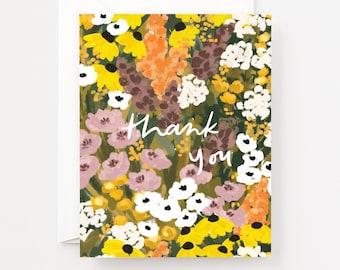 Prairie Thank You Cards : Prairie Thank You Greeting Card or Greeting Card Set with Floral Prairie Field