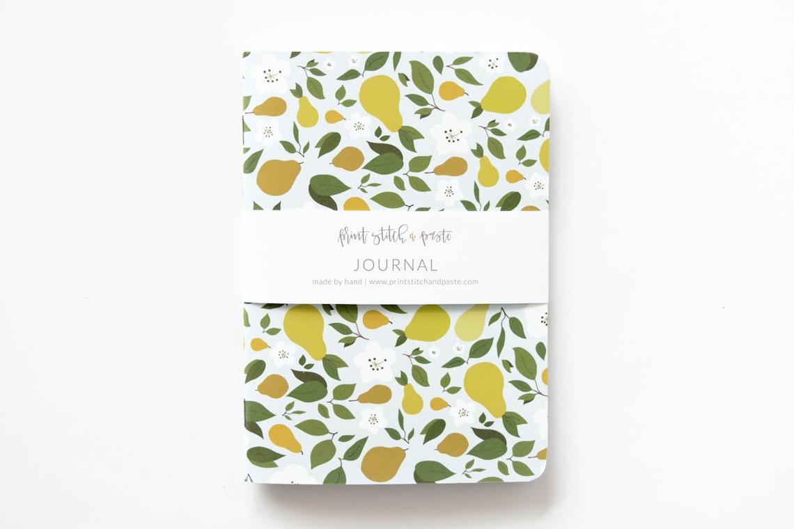 Medium Illustrated Journal  Hand Illustrated Floral Journal image 1